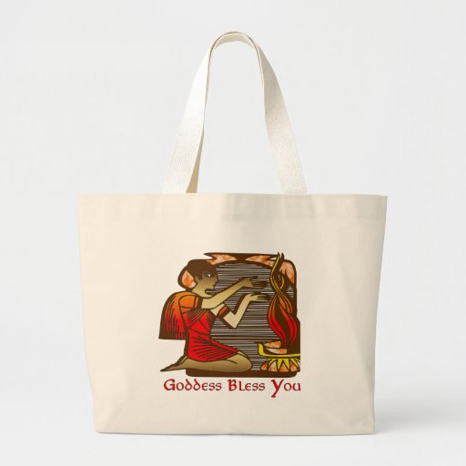 Goddess Bless You Tote Bags