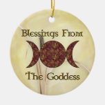 Goddess Blessings Christmas Tree Ornaments