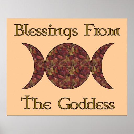 Goddess Blessings Poster