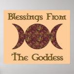Goddess Blessings Posters
