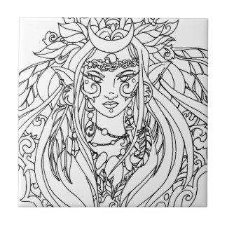 Goddess Ceramic Tile