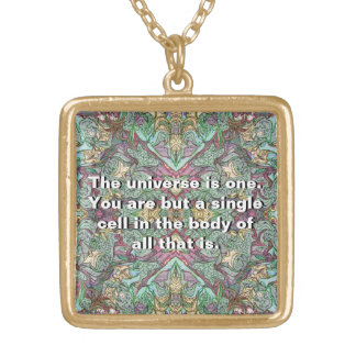 Goddess Consciousness Gold Plated Necklace