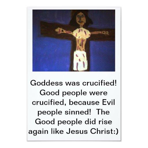 Goddess Crucified Greeting Card