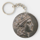 Goddess Cybele Tetradrachm Basic Round Button Keychain