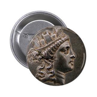 Goddess Cybele Tetradrachm Pinback Buttons