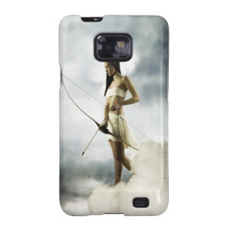 Goddess Diana with bow and arrow Samsung Galaxy Cases