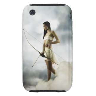 Goddess Diana with bow and arrow Tough iPhone 3 Case