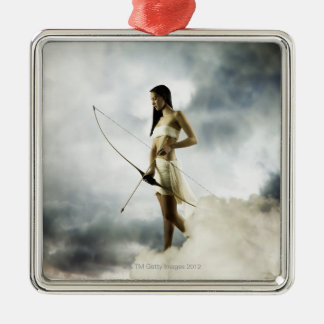 Goddess Diana with bow and arrow Christmas Ornaments
