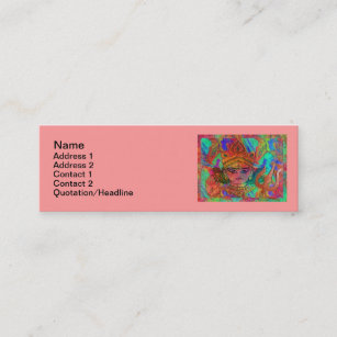 3x1 business cards templates zazzle goddess durga2 skinny 3x1 business card reheart Gallery