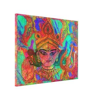 Goddess Durga2 Stretched Canvas Print