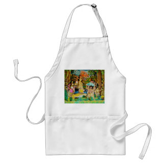 Goddess Durga at Durga festival in Burdwan Adult Apron