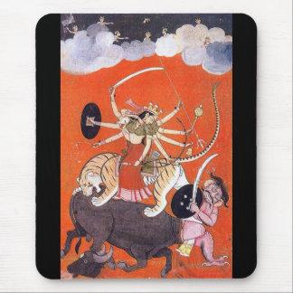 Goddess Durga fighting Mahishasura Mouse Pad