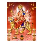 Goddess Durga (Hindu goddess) Postcard