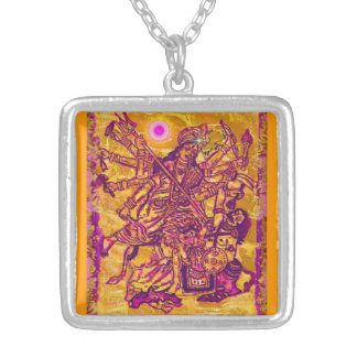 Goddess Durga Square Necklace
