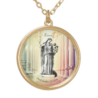 Goddess Eirene Greek Goddess Of Peace! Gold Plated Necklace