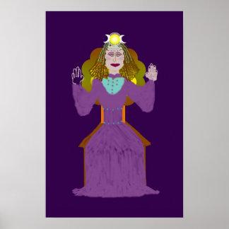 Goddess Figure Poster