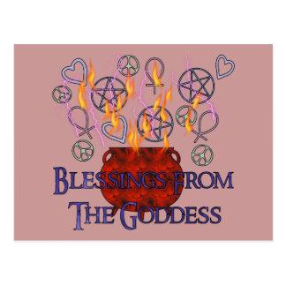 Goddess Fire Blessings Postcard