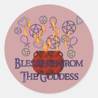 Goddess Fire Blessings Classic Round Sticker