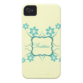Goddess Floral BT BB Bold Case, Teal iPhone 4 Cover