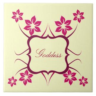 Goddess Floral Tile, Pink Tile