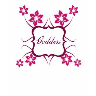 Goddess Floral Women's Tee, Magenta shirt