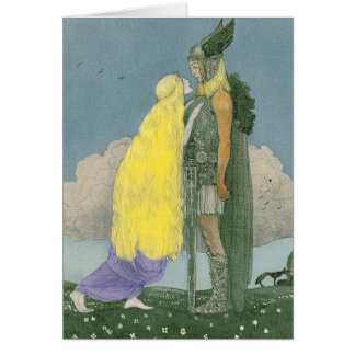 Goddess Freya Norse Pagan Greeting Card