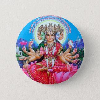 Goddess Gayatri Devi Button