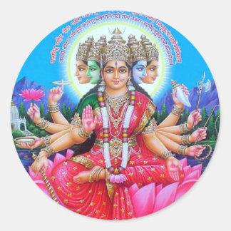 Goddess Gayatri Devi Classic Round Sticker