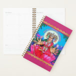 "Goddess Gayatri Devi Veda Mata Deity Planner<br><div class=""desc"">Let blessed Gayatri Devi help you keep life and household organized with this artistic Hindu goddess planner calendar. Gayatri Devi the Goddess is considered the veda mata, Goddess Gayatri is also worshipped as the Hindu Trimurti. Some also consider her to be the mother of all Gods and the culmination of...</div>"