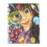 Goddess Girl (Faerie Magic of Skye) Stretched Canvas Prints
