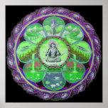 Goddess Green Tara Mandala Poster