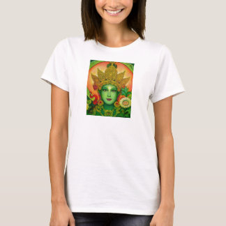Goddess Green Tara's Face Spaghetti String Top