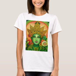 Goddess Green Tara's Face T-Shirt