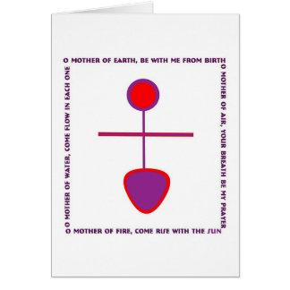 Goddess Greeting Song Greeting Card