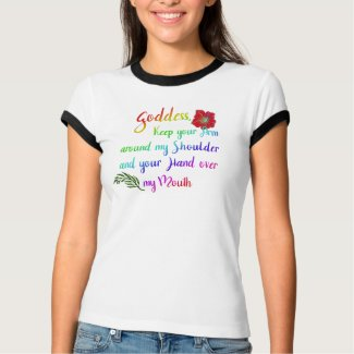 Goddess, hand over my mouth (flower) T-Shirt