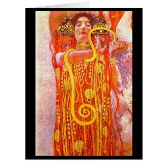 Goddess Hygeia 1902 Large Greeting Card