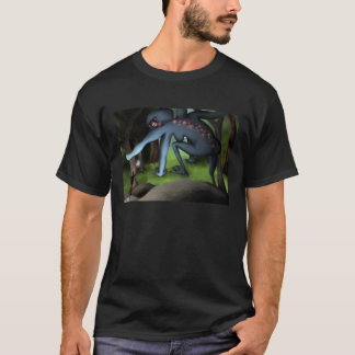 Goddess in the Forest, dark shirt