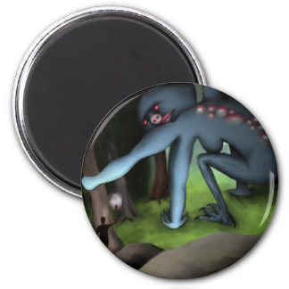 Goddess in the Forest, round magnet Fridge Magnets