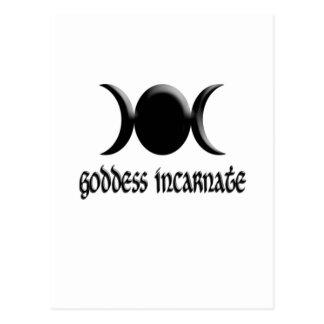 goddess incarnate black postcard