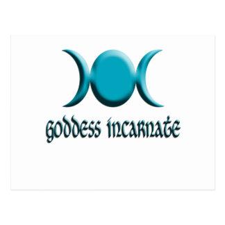 goddess incarnate blue postcard