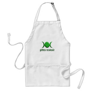 goddess incarnate green adult apron