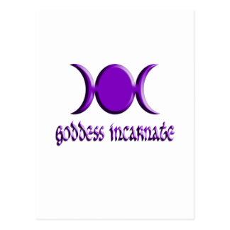 Goddess Incarnate Purple Postcard