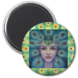 Goddess Isis the Seer 2 Inch Round Magnet