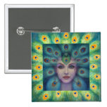 Goddess Isis the Seer 2 Inch Square Button