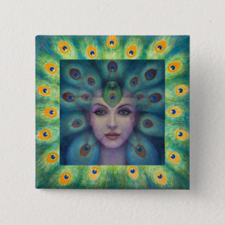Goddess Isis the Seer Button