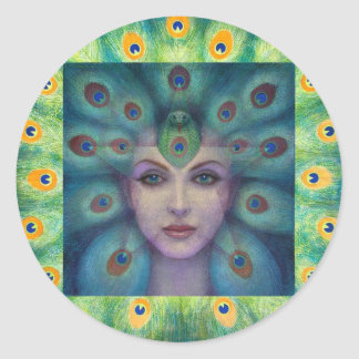 Goddess Isis the Seer Classic Round Sticker