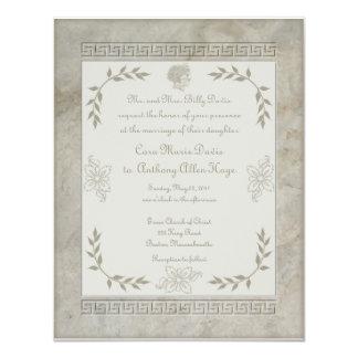 Goddess Juno Latin Phrase Together Through Life 4.25x5.5 Paper Invitation Card