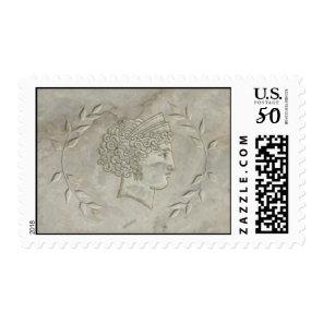 Goddess Juno Laurel Leaves stamp