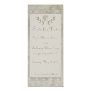 Goddess Juno Roman Motif Save The Date Card