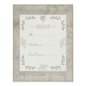 Goddess Juno Symbol for Marriage Marble Card